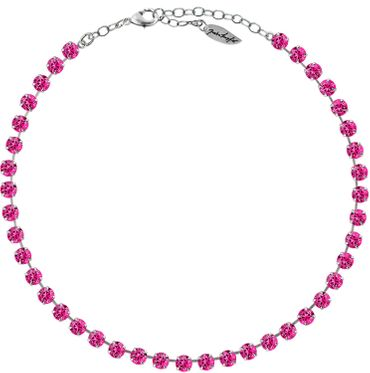 Classical Necklace with 6mm Swarovski Crystals, silver plated,plain colored – Bild 12