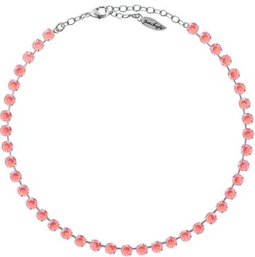 Classical Necklace with 6mm Swarovski Crystals, silver plated,plain colored – Bild 24