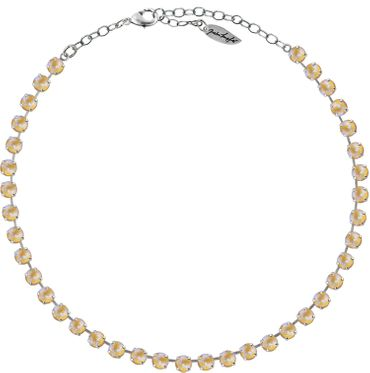 Classical Necklace with 6mm Swarovski Crystals, silver plated,plain colored – Bild 16