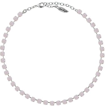Classical Necklace with 6mm Swarovski Crystals, silver plated,plain colored – Bild 20
