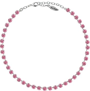 Classical Necklace with 6mm Swarovski Crystals, silver plated,plain colored – Bild 19