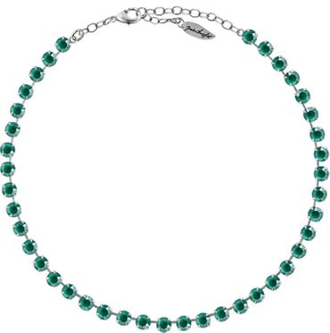 Classical Necklace with 6mm Swarovski Crystals, silver plated,plain colored – Bild 22