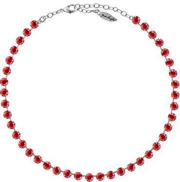 Classical Necklace with 6mm Swarovski Crystals, silver plated,plain colored – Bild 23