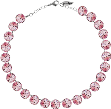 Classical Necklace with 12mm Swarovski Crystals, silver plated, plain colored – Bild 15