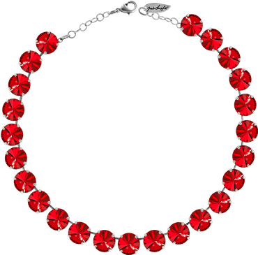 Classical Necklace with 12mm Swarovski Crystals, silver plated, plain colored – Bild 17
