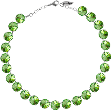 Classical Necklace with 12mm Swarovski Crystals, silver plated, plain colored – Bild 25