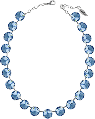 Classical Necklace with 14mm Swarovski Crystals, silver plated, plain colored – Bild 17