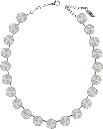 Classical Necklace with 14mm Swarovski Crystals, silver plated, plain colored – Bild 24