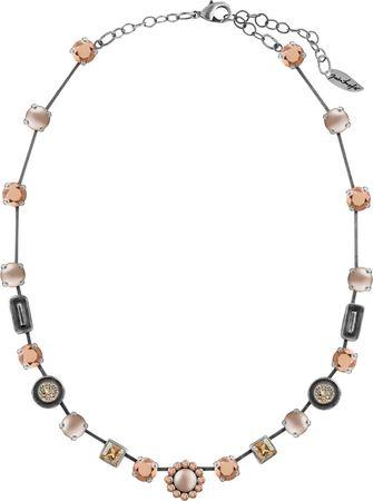 Glamour Collier mit Crystals from Swarovski® und Perlen, teilweise emailliert – Bild 8