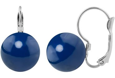 Earring, lever back, with 12mm Swarovski pearl, silver plated – Bild 7
