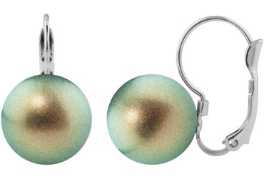 Earring, lever back, with 12mm Swarovski pearl, silver plated – Bild 8