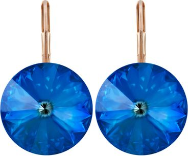 Earring with 14mm Swarovski Rivoli crystals – Bild 2