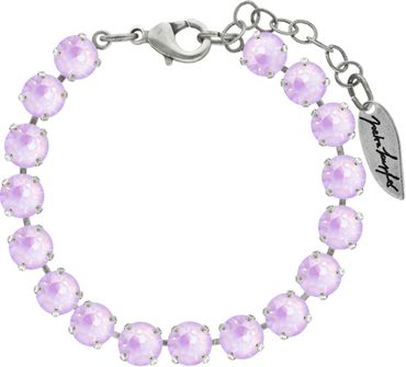 Classical bracelet with 6mm Swarovski chatons, mixed colors, silver plated – Bild 2