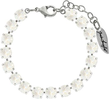 Classical bracelet with 6mm Swarovski chatons, mixed colors, silver plated – Bild 19