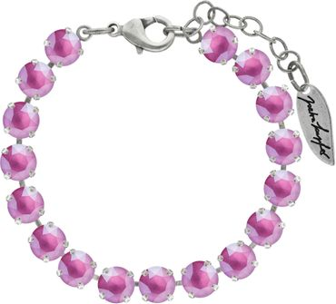 Classical bracelet with 6mm Swarovski chatons, mixed colors, silver plated – Bild 22