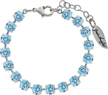 Classical bracelet with 6mm Swarovski chatons, mixed colors, silver plated – Bild 7