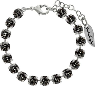 Classical bracelet with 6mm Swarovski chatons, mixed colors, silver plated – Bild 9