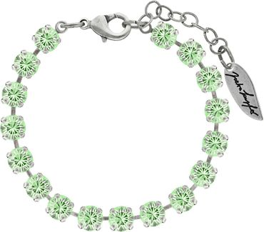 Classical bracelet with 6mm Swarovski chatons, mixed colors, silver plated – Bild 12
