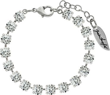 Classical bracelet with 6mm Swarovski chatons, mixed colors, silver plated – Bild 13