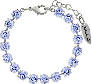 Classical bracelet with 6mm Swarovski chatons, mixed colors, silver plated – Bild 20