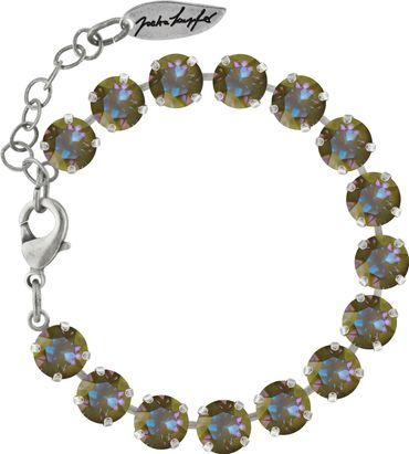 Classical bracelet with 6mm Swarovski chatons, silver plated – Bild 10