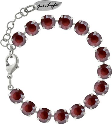 Classical bracelet with 6mm Swarovski chatons, silver plated – Bild 9