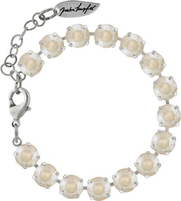 Classical bracelet with 6mm Swarovski chatons, silver plated – Bild 1