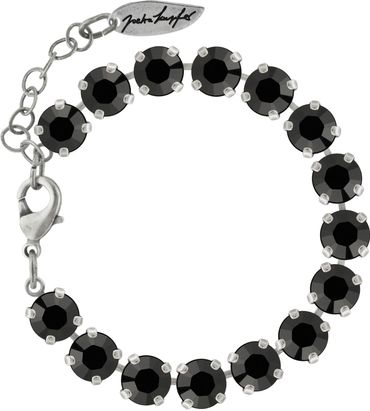 Classical bracelet with 6mm Swarovski chatons, silver plated – Bild 12