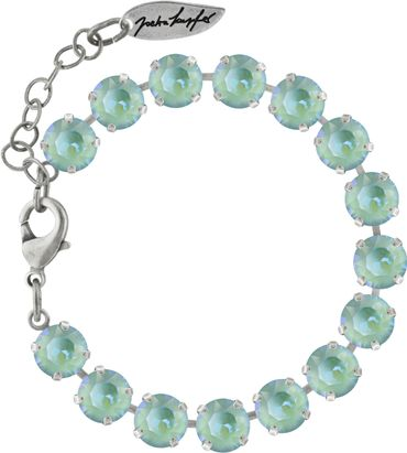 Classical bracelet with 6mm Swarovski chatons, silver plated – Bild 4
