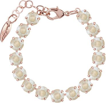 Rosi Armband medium 9mm Chaton rosé vergoldet – Bild 17