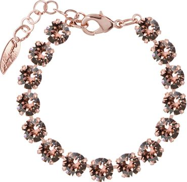 Rosi Armband medium 9mm Chaton rosé vergoldet – Bild 19
