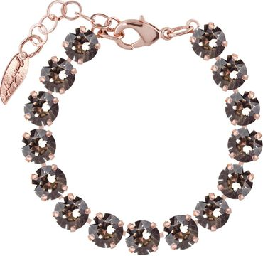 Rosi Armband medium 9mm Chaton rosé vergoldet – Bild 16