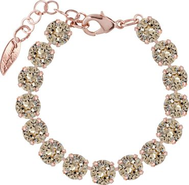 Classical bracelet with 9mm Swarovski chatons,gold plated – Bild 7