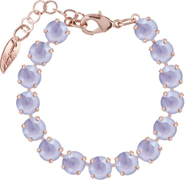 Rosi Armband medium 9mm Chaton rosé vergoldet – Bild 1