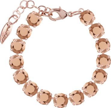 Rosi Armband medium 9mm Chaton rosé vergoldet – Bild 9
