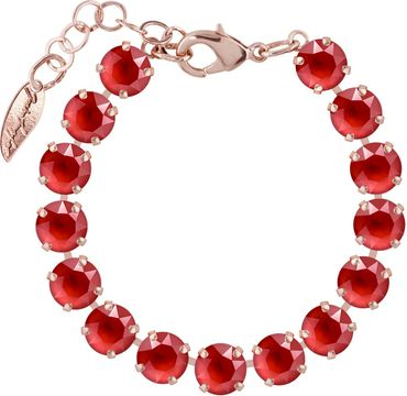 Rosi Armband medium 9mm Chaton rosé vergoldet – Bild 25