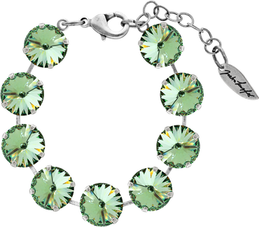 Bracelet with 14mm Swarovski Rivoli crystal, silver plated – Bild 3