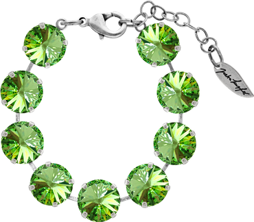 Bracelet with 14mm Swarovski Rivoli crystal, silver plated – Bild 5