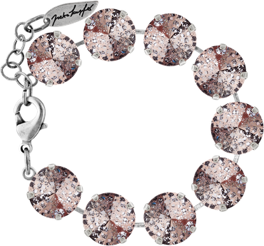Bracelet with 14mm Swarovski Rivoli crystal, silver plated – Bild 6