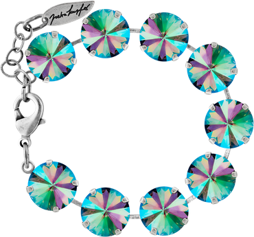 Bracelet with 14mm Swarovski Rivoli crystal, silver plated – Bild 1