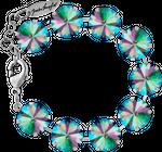 Bracelet with 14mm Swarovski Rivoli crystal, silver plated 001