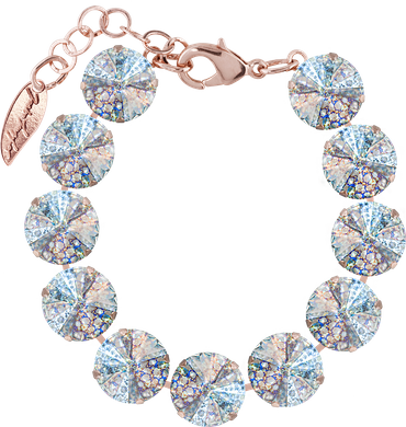 Bracelet with 12mm Swarovski Rivoli crystal, rosegold plating – Bild 1