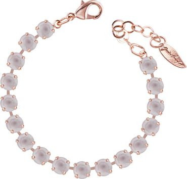 Classical bracelet with 6mm Swarovski chatons, rosegold plated – Bild 5