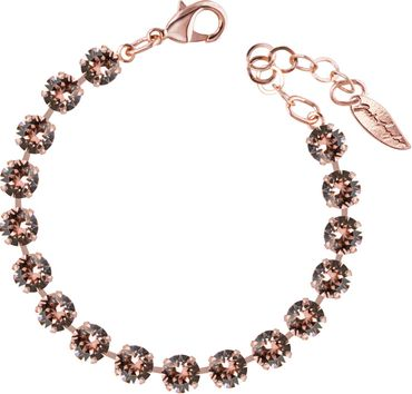 Classical bracelet with 6mm Swarovski chatons, rosegold plated – Bild 13