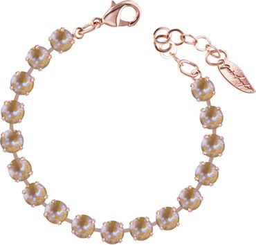 Classical bracelet with 6mm Swarovski chatons, rosegold plated – Bild 3
