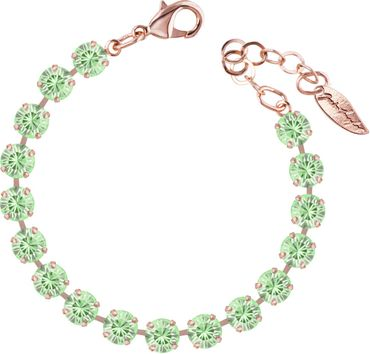 Classical bracelet with 6mm Swarovski chatons, rosegold plated – Bild 14