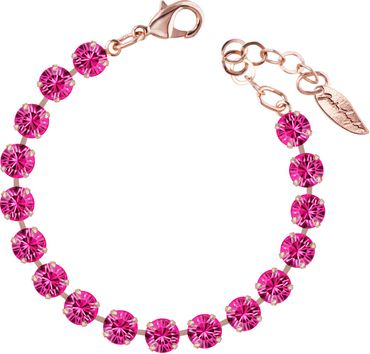 Classical bracelet with 6mm Swarovski chatons, rosegold plated – Bild 17