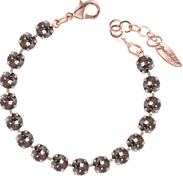Classical bracelet with 6mm Swarovski chatons, rosegold plated – Bild 18