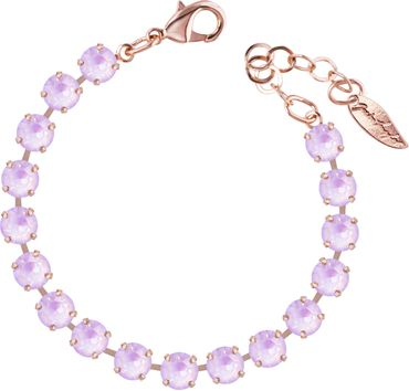 Classical bracelet with 6mm Swarovski chatons, rosegold plated – Bild 1