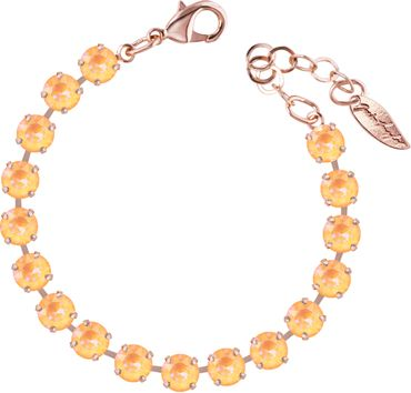 Classical bracelet with 6mm Swarovski chatons, rosegold plated – Bild 7